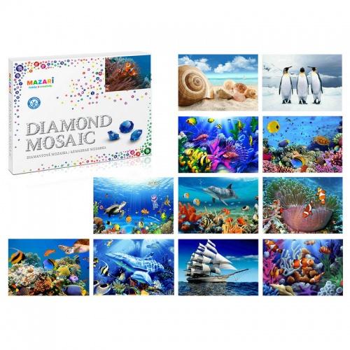 Алмазная мозаика 40*50см Морской мир 12 видов