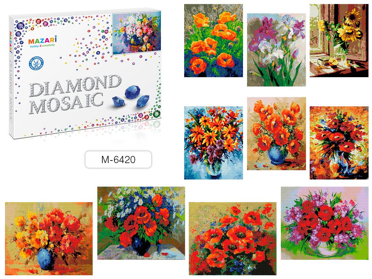 Алмазная мозаика 40*50см Цветочная элегия 12 видов