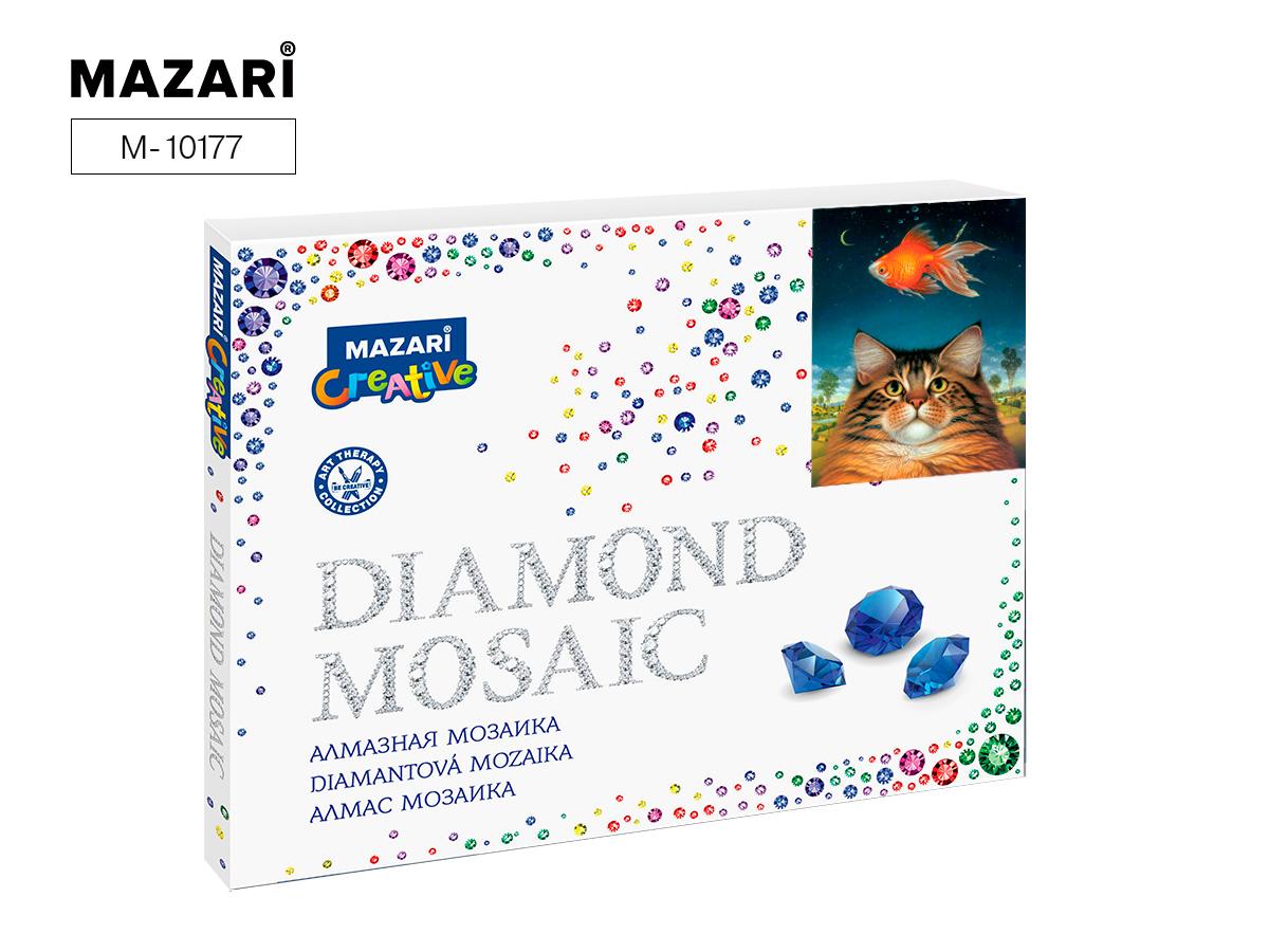 Алмазная мозаика 40*50см Кот-мечтатель