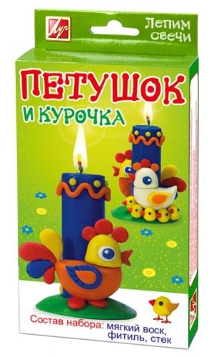 "Набор д/творч. Луч ""Лепим свечи"" Петушок и курочка"