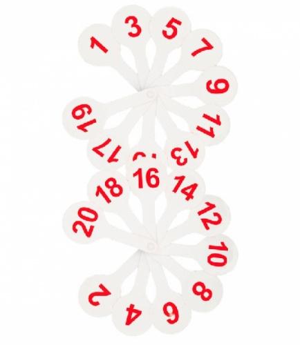 Веер (касса) цифр 1-20 СТАММ