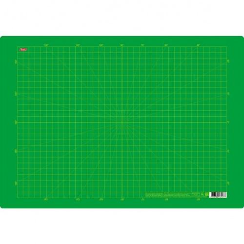 """Подкладка пластик. Хатбер А3 """"В клеточку"""" зеленая"""