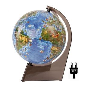 Глобус д/детей 210мм с подсветкой.