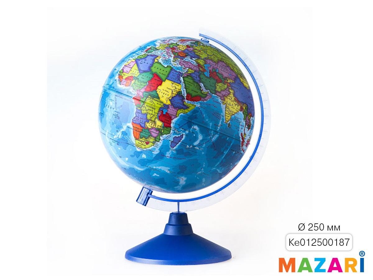 Глобус политический 250мм на круглой подставке