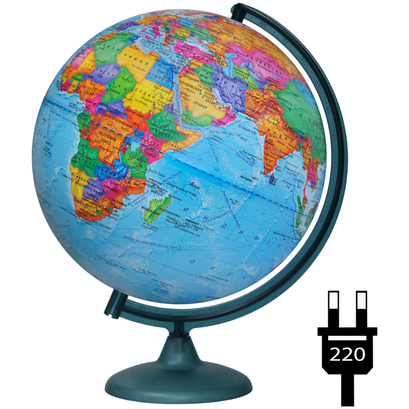 Глобус политический 320мм с подсветкой