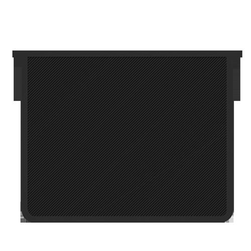 Папка д/тетр. А4 Пчелка на молнии  черная прозрачная