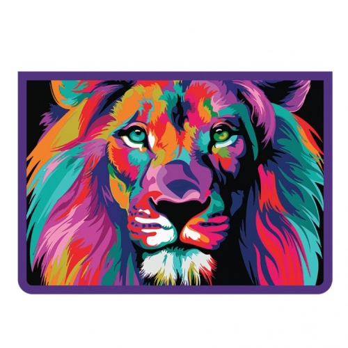 """Папка д/тетр. А4 Пчелка на молнии пластик """"Colour lion"""""""