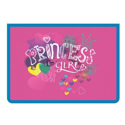 """Папка д/тетр. А4 Пчелка на молнии пластик """"Princess girl"""""""