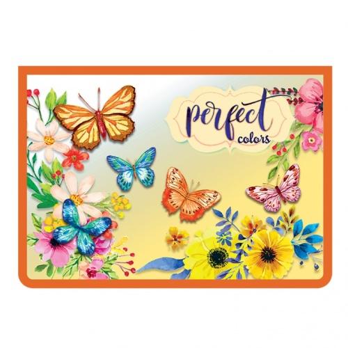 """Папка д/тетр. А4 Пчелка на молнии пластик """"Волшебные бабочки"""""""