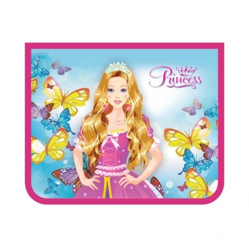 "Папка д/тетр. А5 Пчелка на молнии фольг.картон ""Блестящая принцесса"""