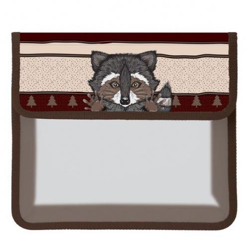 """Папка д/тетр. А5 Хатбер на липучке 1отд. """"Raccoon"""""""