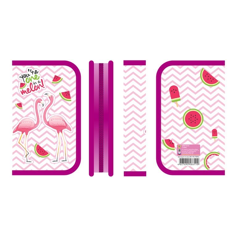 """Пенал 1отд. Пчелка 190*115 """"Flamingo"""""""