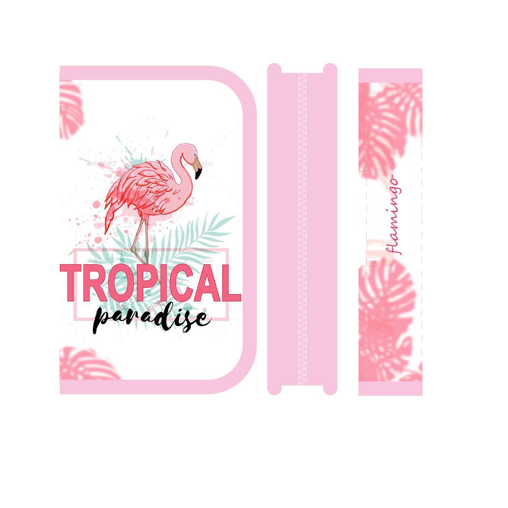 Пенал 1отд. Пчелка 190*115 откид.планка Tropical paradise