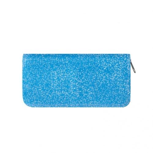 Пенал-косметичка Пчелка 190*100*26 с блестками Голубой