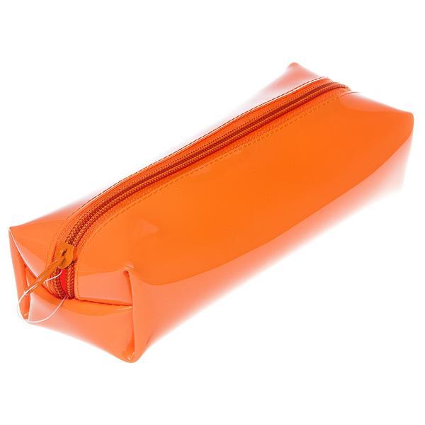 Пенал-косметичка Пчелка 195*60*50 ткань на молнии Neon оранжевый