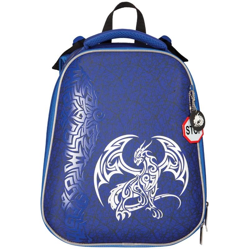 """Ранец Berlingo Expert """"Blue dragon"""" 37*29*18см, 2 отделения, анатомическая спинка"""