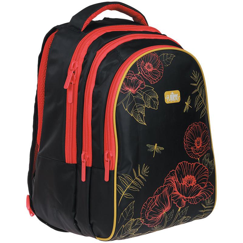 """Рюкзак Berlingo Style """"Poppies"""" 42*30*20см, 3 отделения, 1 карман, эргономичная спинка"""