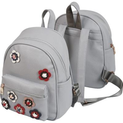 Рюкзак подростковый deVENTE 29*24*16см серый апликация
