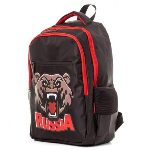 """Рюкзак Хатбер BASIC STYLE """"Russia Bear"""" 2 отделения 3 кармана"""