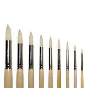 Кисть щетина круглая Сонет длинная ручка лак №4 диам 6мм