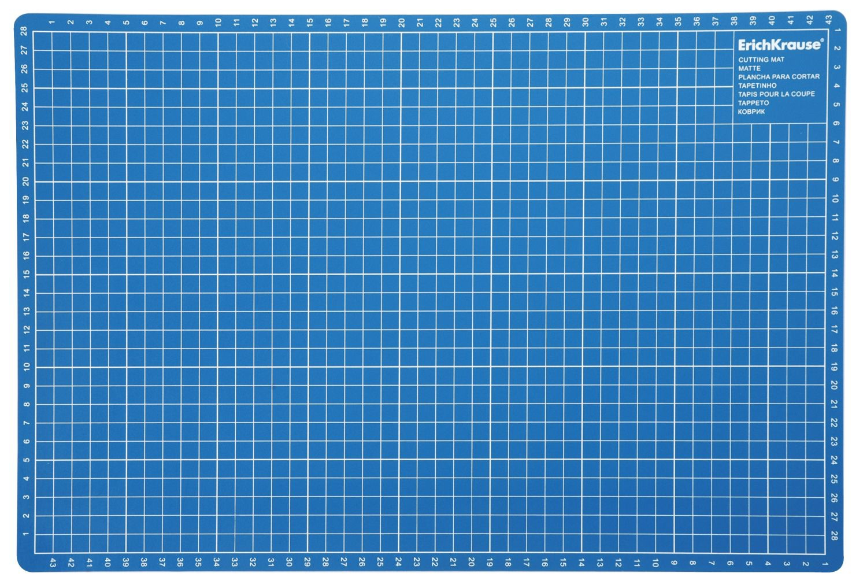 Коврик для резки А3 ErichKrause пластиковый синий
