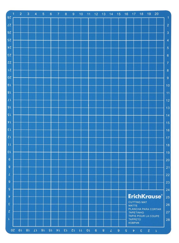 Коврик для резки А4 ErichKrause пластиковый синий