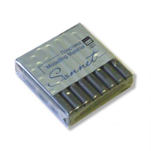 Пластика Сонет брус 56гр. металлик серебро