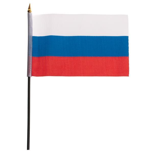 "Сувенир флаг ""Россия"" 15*22,5 см без герба, без подставки"