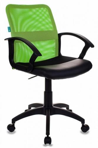 Кресло Бюрократ CH-590/SD/black салатовый/кожзам черный
