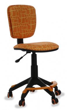 Кресло детское Бюрократ CH-204F/GIRAFFE Жираф оранжевый