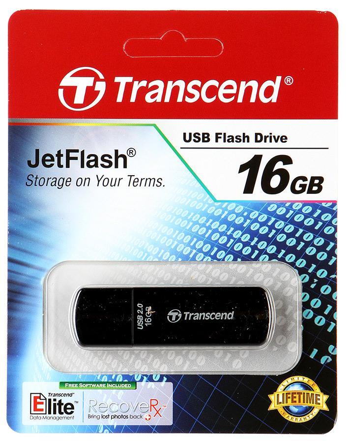 Флэш-диск Transcend 16Gb Jetflash черный 350