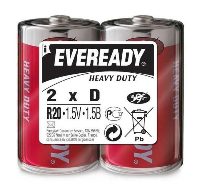 Батарейка Energizer EVEREDY HD R20