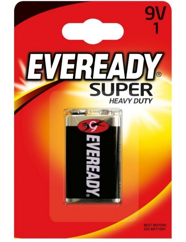Батарейка Energizer EVEREDY 9V6F22 блист.