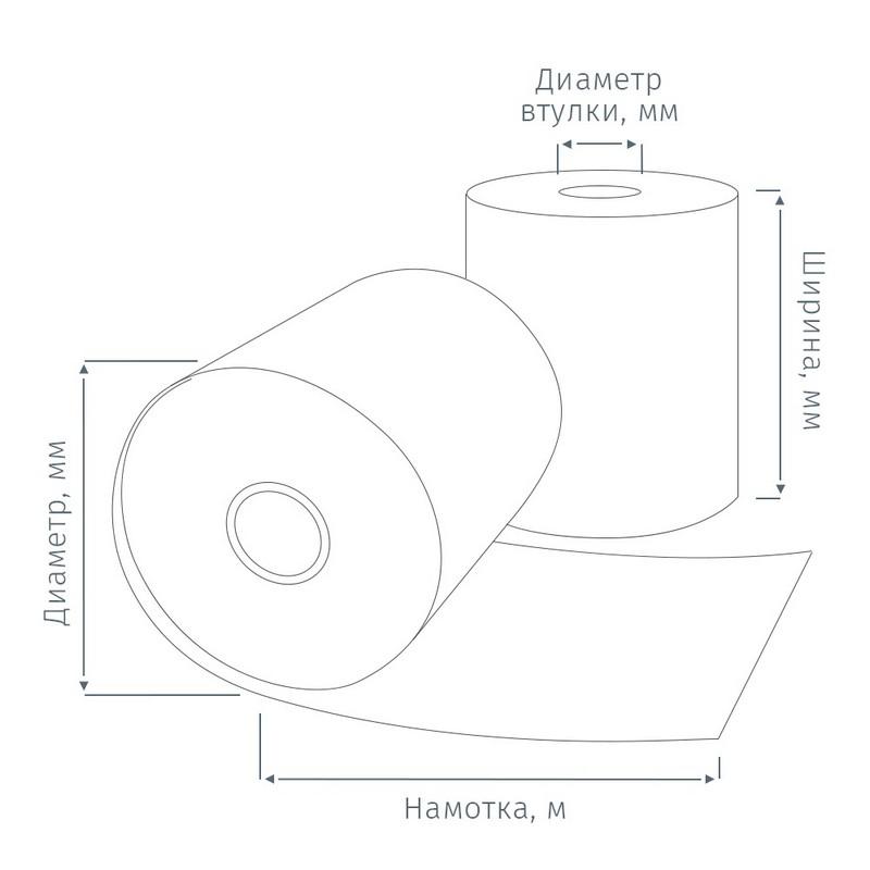 Рулон д/кас.ап. термо 80* 80*12 (53м) НБК