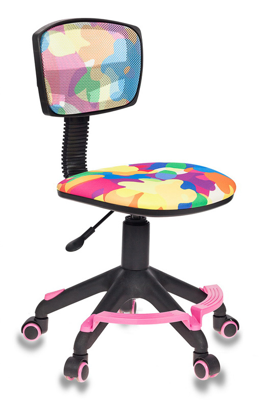 Кресло детское Бюрократ CH-299-F/ABSTRACT спинка сетка абстракция