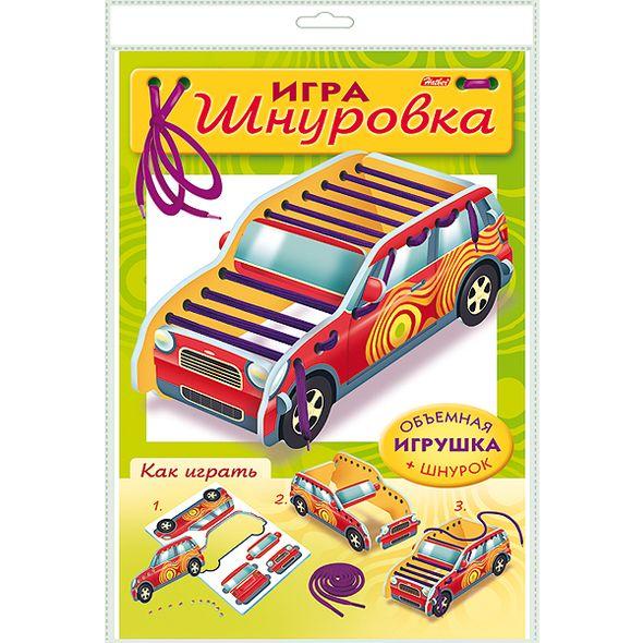 "Игра-конструктор объемная А4 ""Шнуровка. Машина"" +1 шнурок"