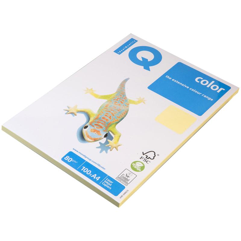 """Бумага """"IQ Color"""" А4 80г/м2 100л Pale желтый"""