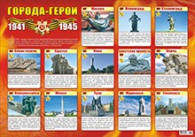 "Плакат А2 ""Города-Герои"""
