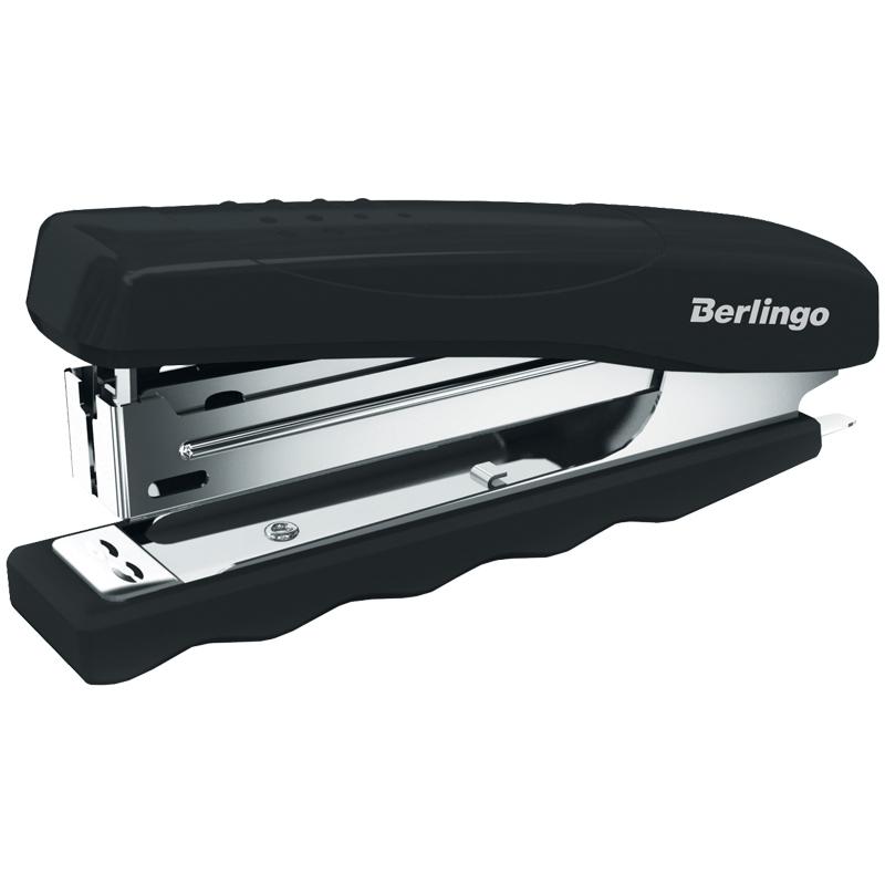 Степлер №10 Berlingo 16л черный