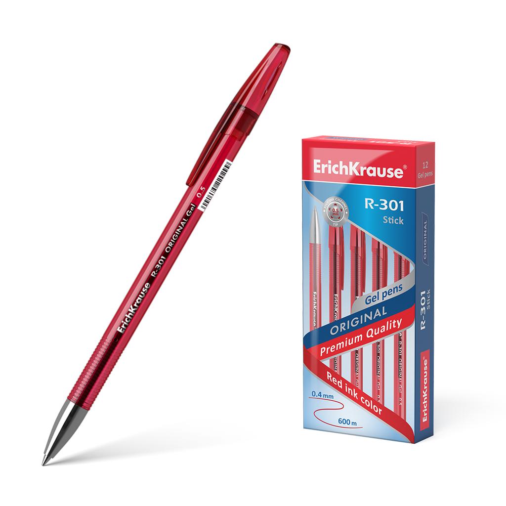 Ручка гел. ErichKrause R-301 Original Gel 0,5 красная