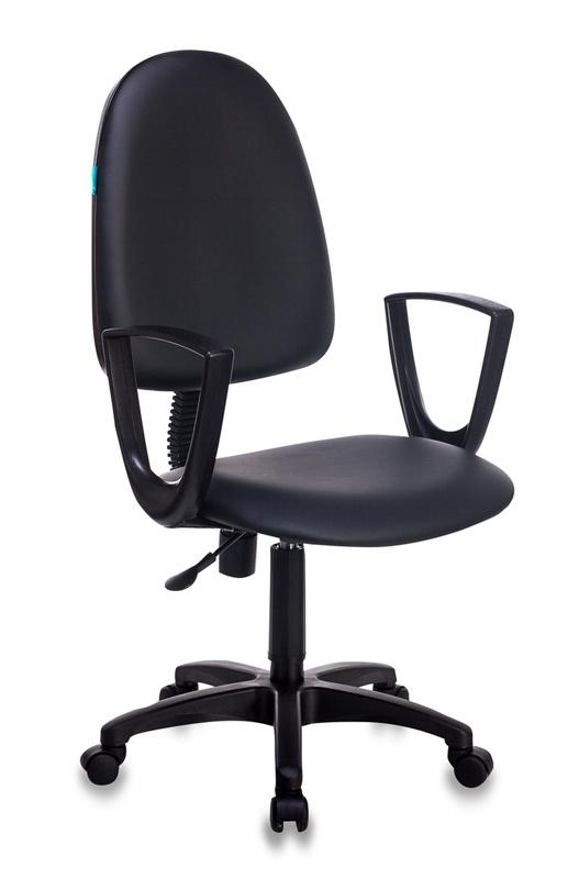 Кресло Бюрократ CH-1300N/OR-16 Престиж+ черный иск.кожа