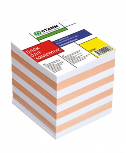 Блок д/зап. СТАММ 9*9*9 2-х цветный персиковый