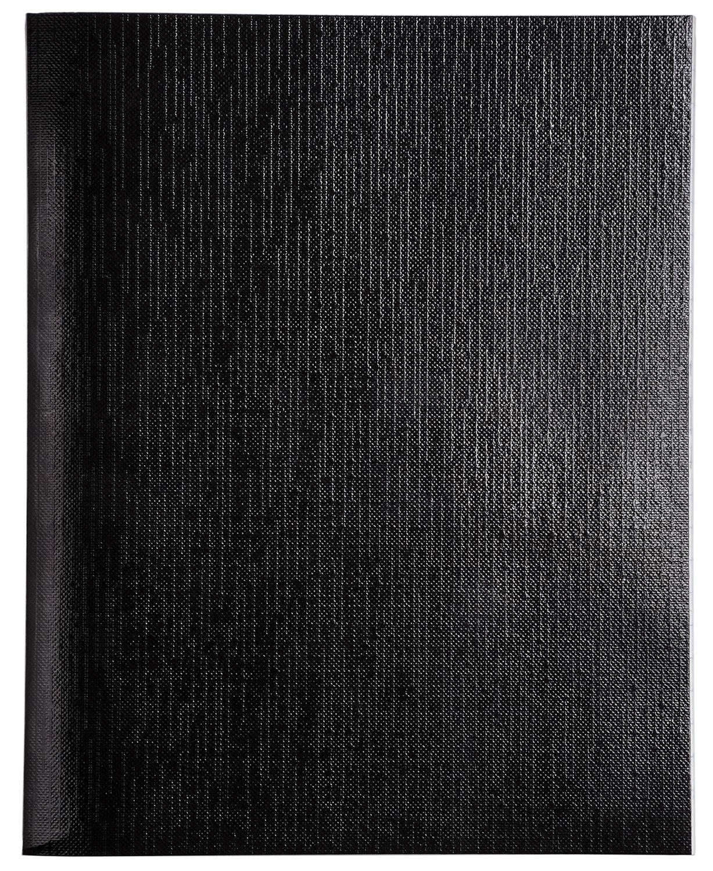 Тетр. 96л бумвин. Хатбер Metallic черная