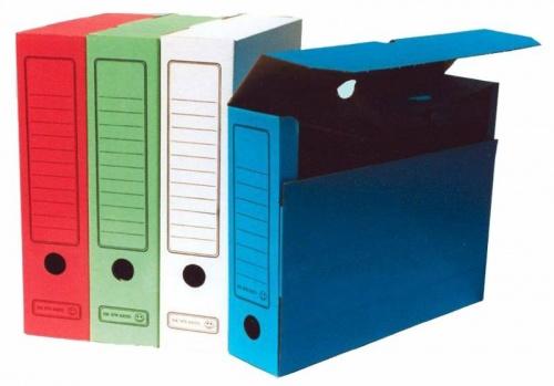 Короб архивный  75мм Бюрократ гофрокартон асс.