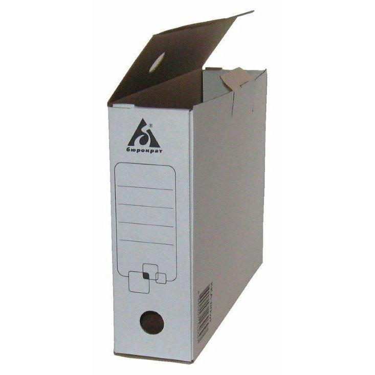Короб архивный  80мм Бюрократ гофрокартон белый