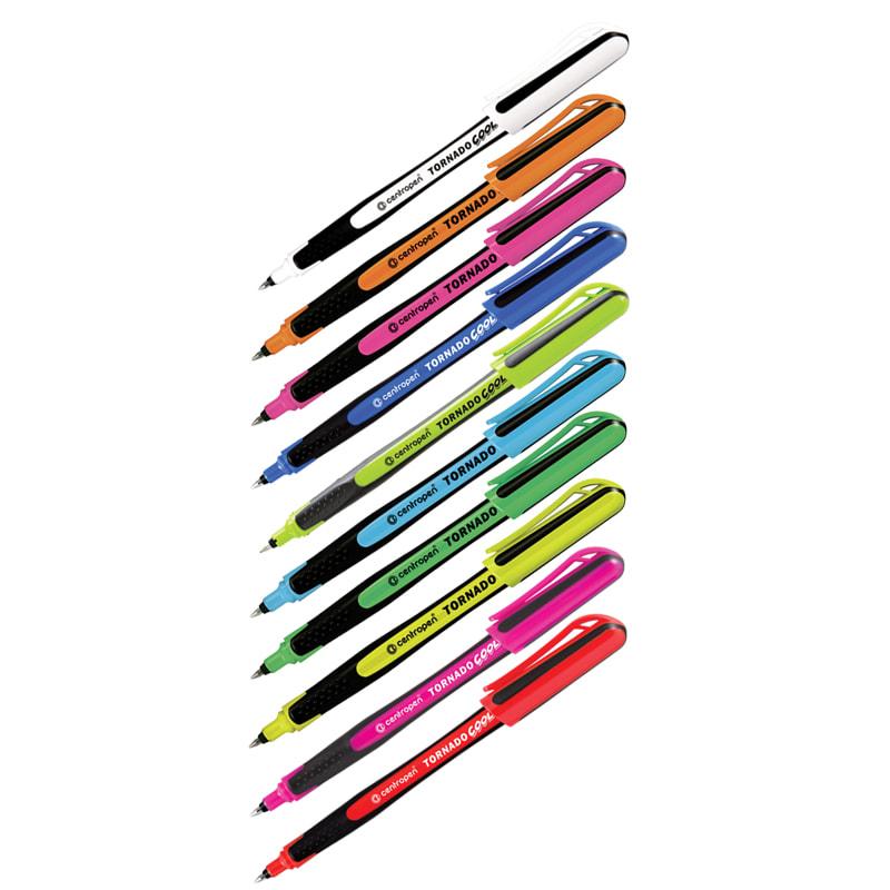 """Ручка роллер Centropen """"Tornado Cool"""" одноразовая син. асс."""