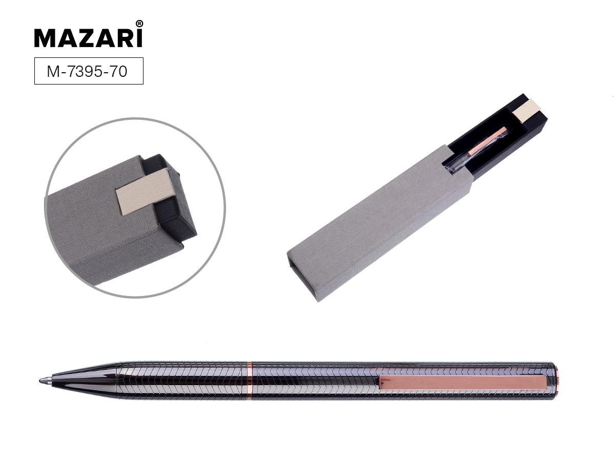 Ручка Mazari поворот.мех. Afina 0,7мм синяя черный корпус