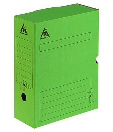 Короб архивный 100мм Бюрократ гофрокартон зеленый