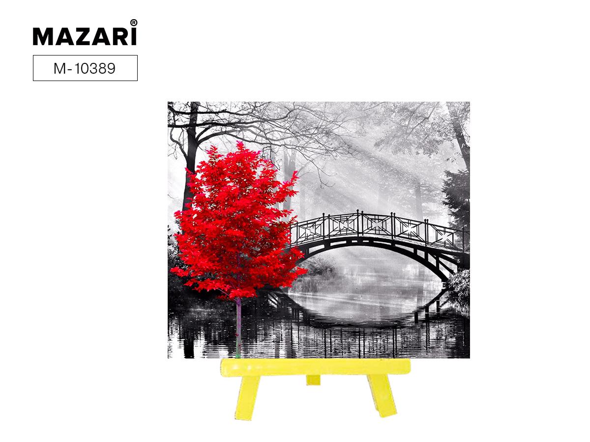 Алмазная мозаика+мольберт 21*25см Красное дерево