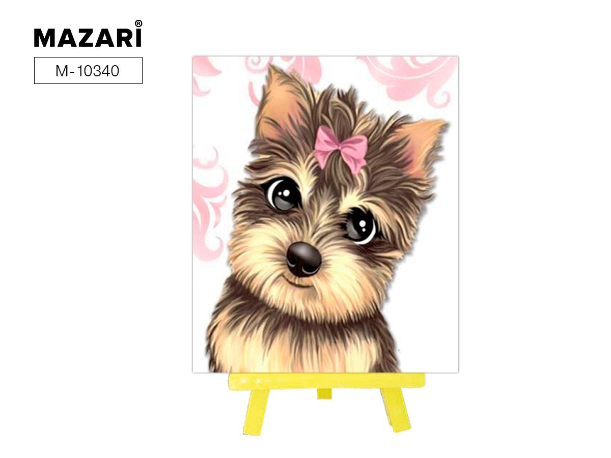 Алмазная мозаика с мольбертом 21*25см Милый щенок